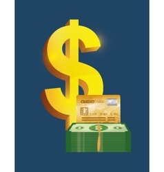 Credit card money vector