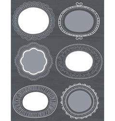 Decorative circle labels suitable for design vector