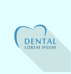 dental abstract logo icon flat style vector image