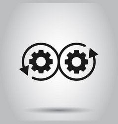 Development icon in flat style devops on isolated vector