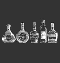 different brandies types vector image