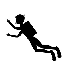 Diving extreme sport icon vector