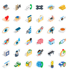 doctor icons set isometric style vector image