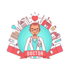 Doctor professional poster vector