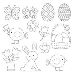 Easter digital stamps vector