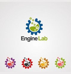 engine lab logo icon element and template for vector image