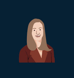 Executive female flat design vector