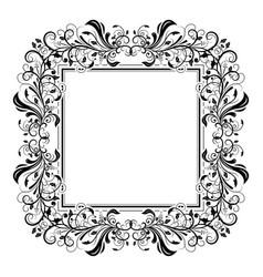 Floral decorative filigree frame for cards vector