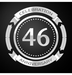 Forty six years anniversary celebration with vector
