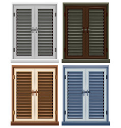 four window frames in different colors vector image