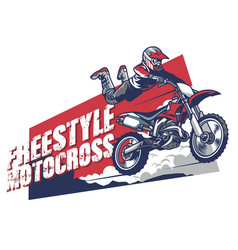 Freestyle motocross design vector