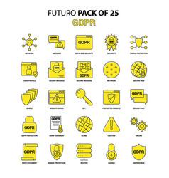 Gdpr icon set yellow futuro latest design icon vector