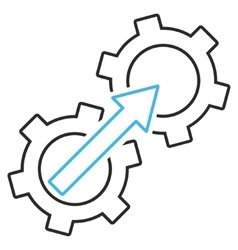 Gear Integration Outline Icon vector