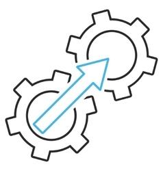 Gear Integration Outline Icon vector