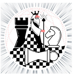 global chess game chess vector image vector image