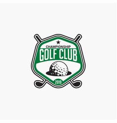 golf club badge logo-1 vector image