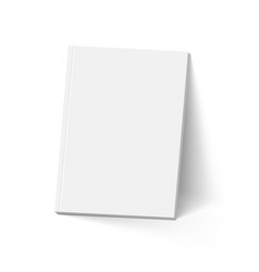 gray book on white mockup template vector image