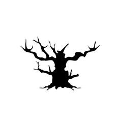halloween tree icon vector image