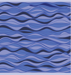 hand-drawn marine pattern waves background vector image