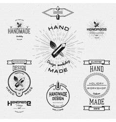 Handmade badges logos and labels for any use vector image