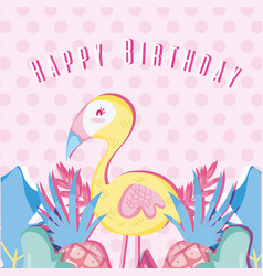 Happy birthday pastel colors card vector