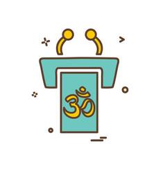 hindu religion icon design vector image
