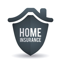 home insurance design vector image