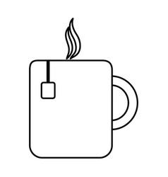 Hot coffee mug icon vector