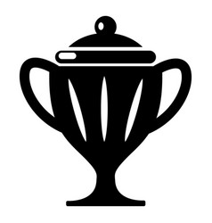 Ice hockey cup icon simple style vector