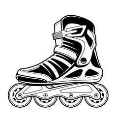 Inline roller skate line art vector