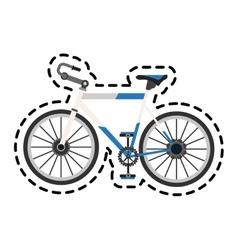 Isolated bike vehicle design vector image