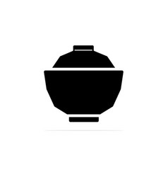 japanese bowl icon concept for vector image