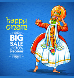 Kathakali dancer on advertisement and promotion vector