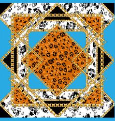 leopard seamless tile vector image