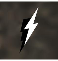 Lightning bolt icon mesh vector