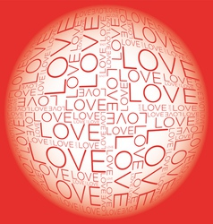 Love word collage vector image