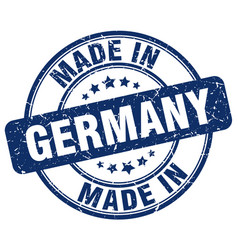 made in germany blue grunge round stamp vector image