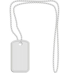 military identity tag vector image