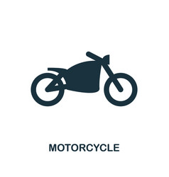 motorcycle icon in flat style icon design vector image