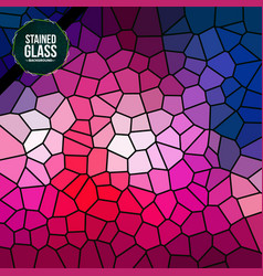 multicolor broken stained glass background vector image