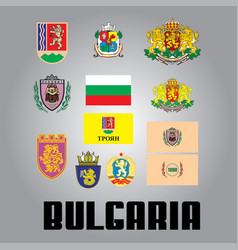 Official government elements of bulgaria vector