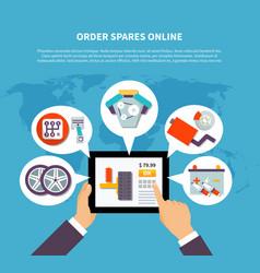 Order spares online design concept vector