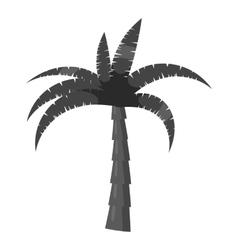 Palm tree icon gray monochrome style vector