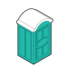 Portable toilet isolated wc street palstic vector