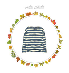 Pullover hand draw clothes autumn collection vector