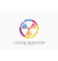 Radiation logo Color radiation design Creative vector image