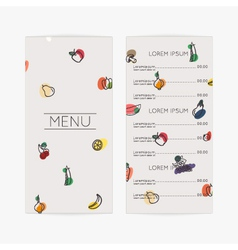 Restaurant menu Flat design vector image
