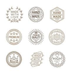 Retro Design Insignias Logotypes Hand Made vector image