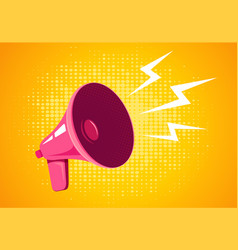retro megaphone on yellow background vector image