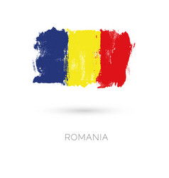 romania colorful brush strokes painted national vector image